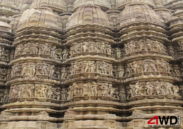One of the temples built in the 10-11th century at Khajuraho, Madhya Pradesh