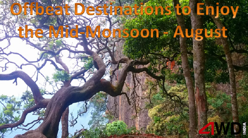 Offbeat Destinations to Enjoy the Mid-Monsoon - August