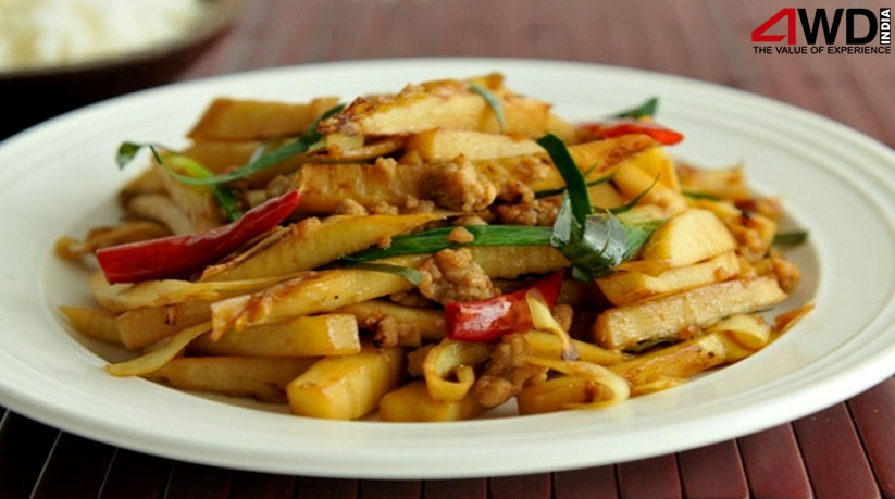chicken and bamboo shoots