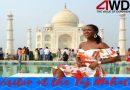 Miss Universe Dee-Ann Kentish Rogers visited Taj Mahal