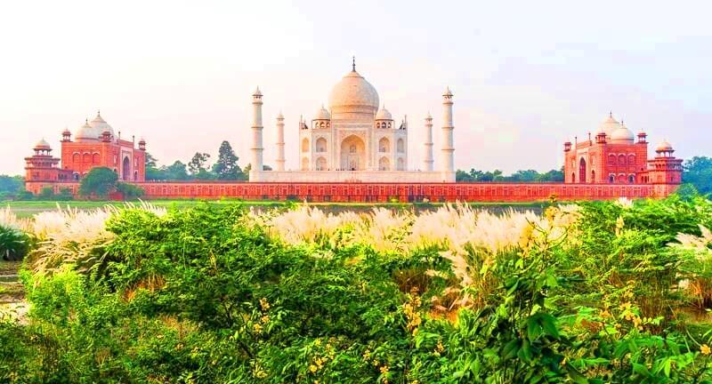 Taj Mahal Garden in Agra