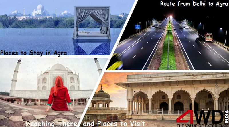 route from delhi to agra